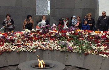 The tribute to the victims of the Armenian Genocide